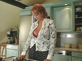 Hot Redhead Russian Milf getting fucked in put emphasize kitchen
