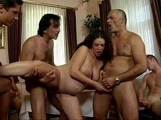 daddy's Visitors Gangbang his pregnant nipper